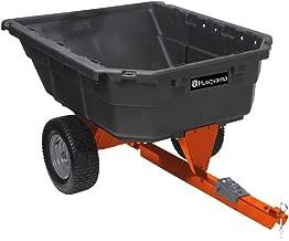 Husqvarna Poly Swivel Dump Cart, 12.5 Cubic Feet