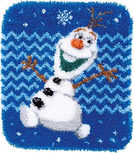 Vervaco PN-0166274 Kit de Crochet de Verrouillage, Tapis, Acrylique, Blanc, 47 x 54 cm