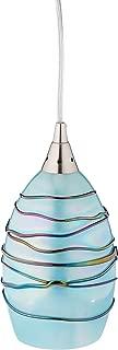 Elk Lighting 31348/1MN Vines Collection 1 Light Pendant, Satin Nickel