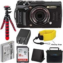 Olympus Tough TG-6 Waterproof Digital Camera (Black) + Pixibytes Basic Bundle + Underwater Package