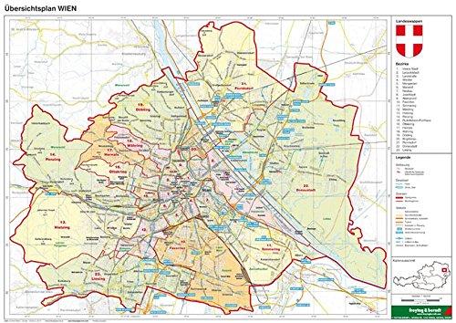 Wien politisch - A3, Planokarte 1:85.000 (freytag & berndt Poster + Markiertafeln)