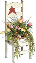 product image for Primitive Pine Flower Pot Holder Chair with Rustic Star