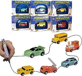 ミニカー マジック車 線誘導車 電気画線誘導車 玩具車 電動おもちゃ マジックロードカー 子供のおもちゃ(ランダムな色)