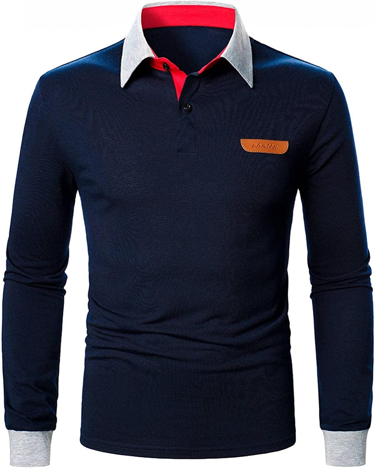 Men's Indianapolis Mall Polo Shirts Long Ranking TOP15 Sleeve Classic Golf Casual Sports T-Shirt