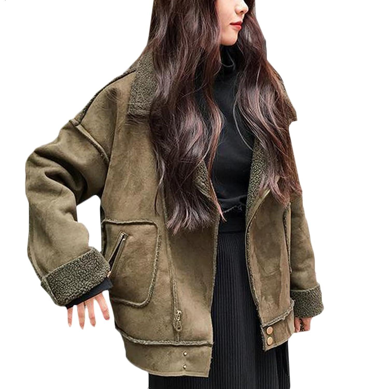 [美しいです] レディース コート ジャケット 防寒 防風 ショット カジュアル 保温性 チェスターコート ゆったり 冬服  ムートンコート スエード