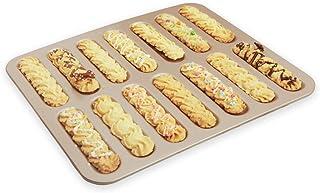 JD Plateau de cuisson, longue bande de foudre Puff gâteau moule de cuisson Finger Biscuit Snack cuisson Plateau antiadhési...