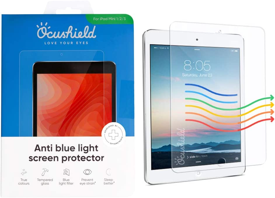 Ocushield Anti Blue NEW Dallas Mall Light Tempered for Screen Protector Ap Glass
