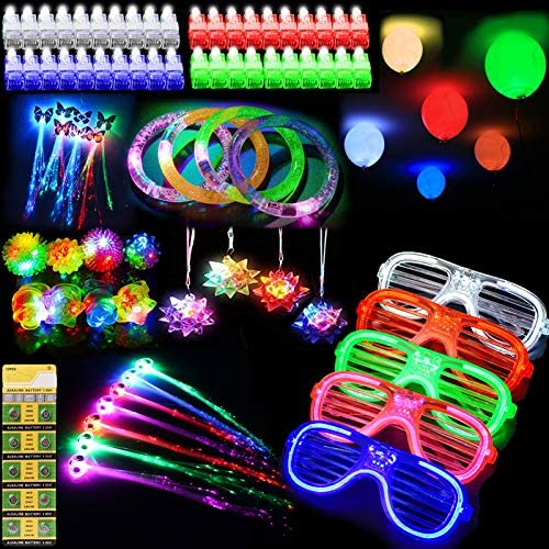 ThEast 88 PCS LED Light Up Toys Party Favors Glow in the Dark Party Supplies for Kids Adults product image