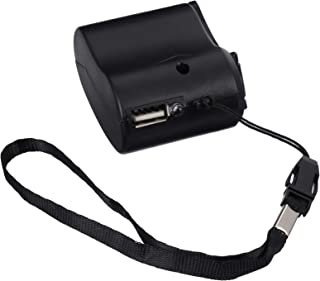 Carregador de telefone USB com manivela BESPORTBLE, carregador de telefone externo de emergência, fonte de acampamento par...