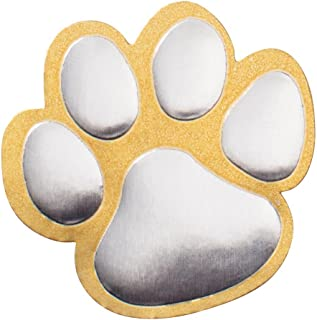 Gold and Silver Paw Print Certificate Seals, 102 Pack