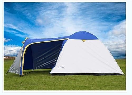 YJWOZ Tente à Impériale 3-4 Personnes en Plein Air Camping Tente Auvent Une Chambre Une Tente De Plage Hall Tente