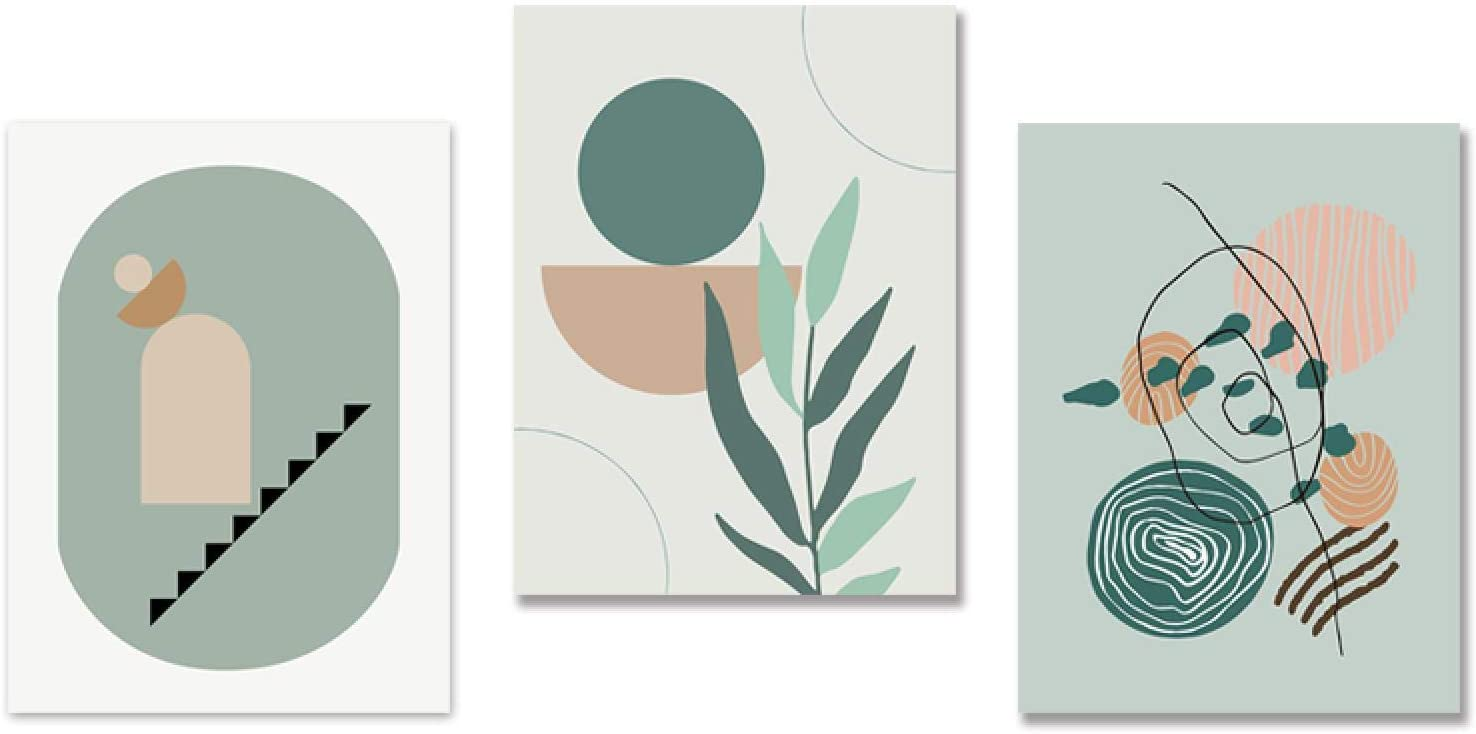 Abstract Geometric Line Art 5% OFF unisex Leaf Posters Boho Wall and Ar Prints