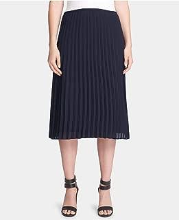 DKNY Womens Navy Midi Pleated Wear To Work Skirt US Size: 10