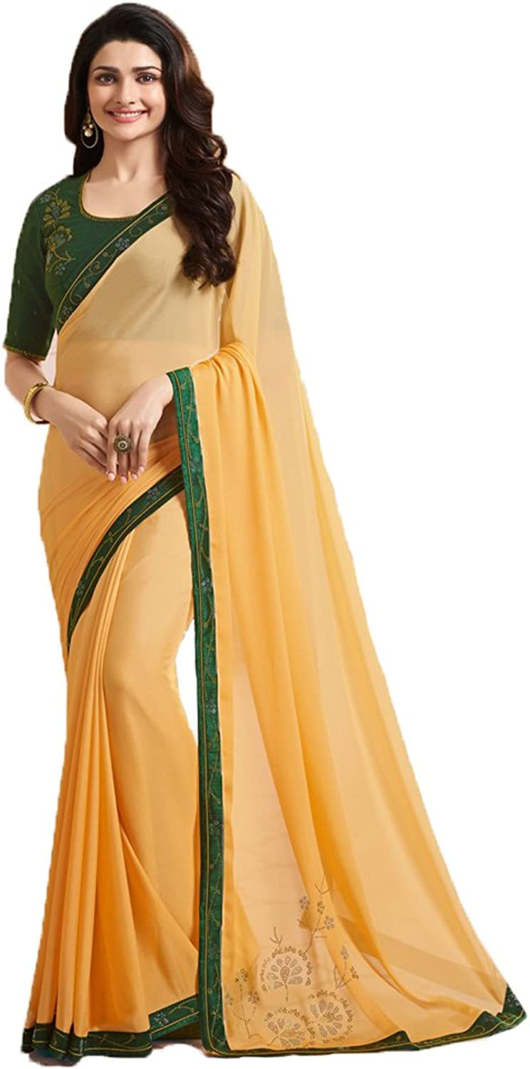 Dilse Fashion Designer Partywear Saree for Women's with Unstitched Blouse