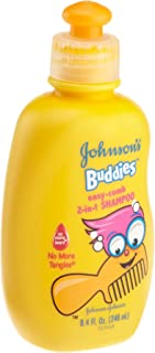 Johnson's Bathtime Buddies No More Tangles Easy-Comb Shampoo, 8.4-Ounce Bottles (Pack of 6)