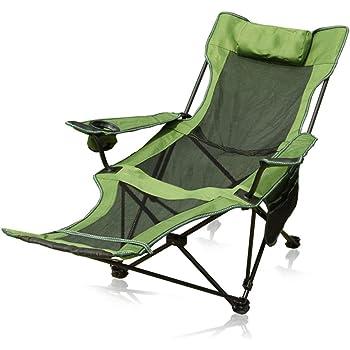 Noir REFURBISHHOUSE Portable Chaise De Camping De Plage Ultralight Aviation Chaise De P/êche en Aluminium De Loisirs Chaise De Camping Pliante Camping Chaise De Jardin Pliante en Plein Air