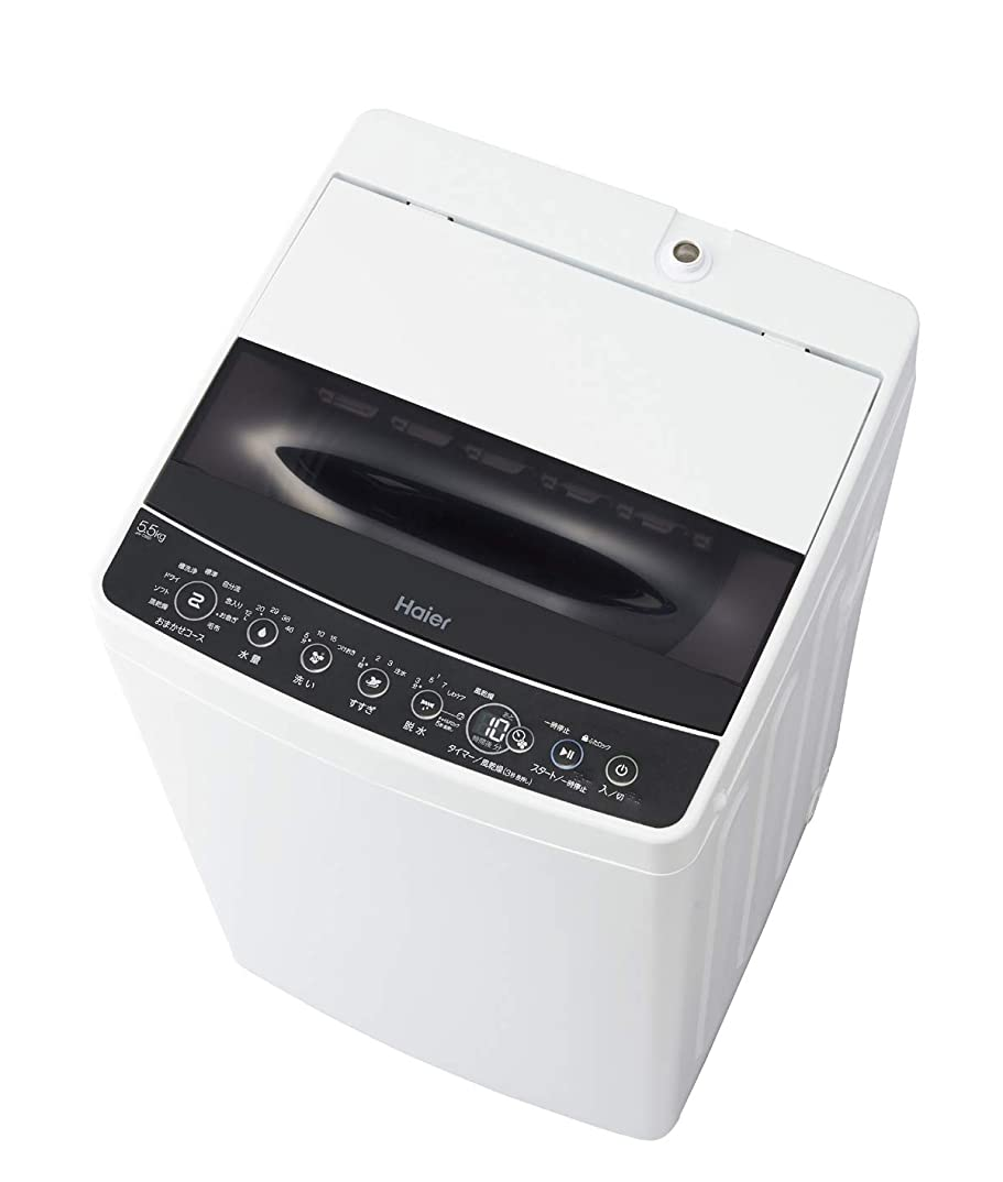 絶え間ない過言モナリザハイアール 5.5kg 全自動洗濯機 ブラックhaier JW-C55D-K