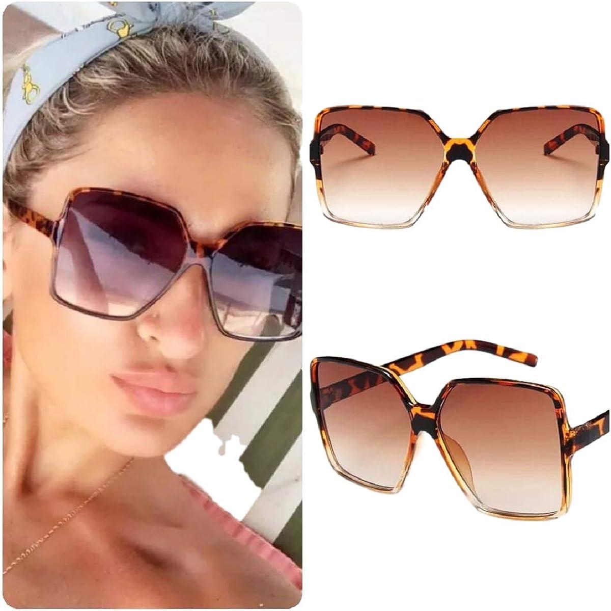 Oversized Sunglasses Women//Womens Square Frame Sun Glasses//Big Celeb Designer Styling Retro Vintage Festival Ibiza 2021