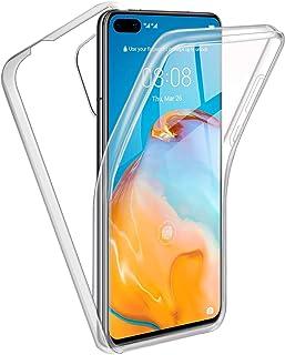 Reshias Funda para Huawei P40 Pro,360°Full Body Protección [Suave TPU Silicona Delantero] [PC Dura Atrás] Transparente Fli...
