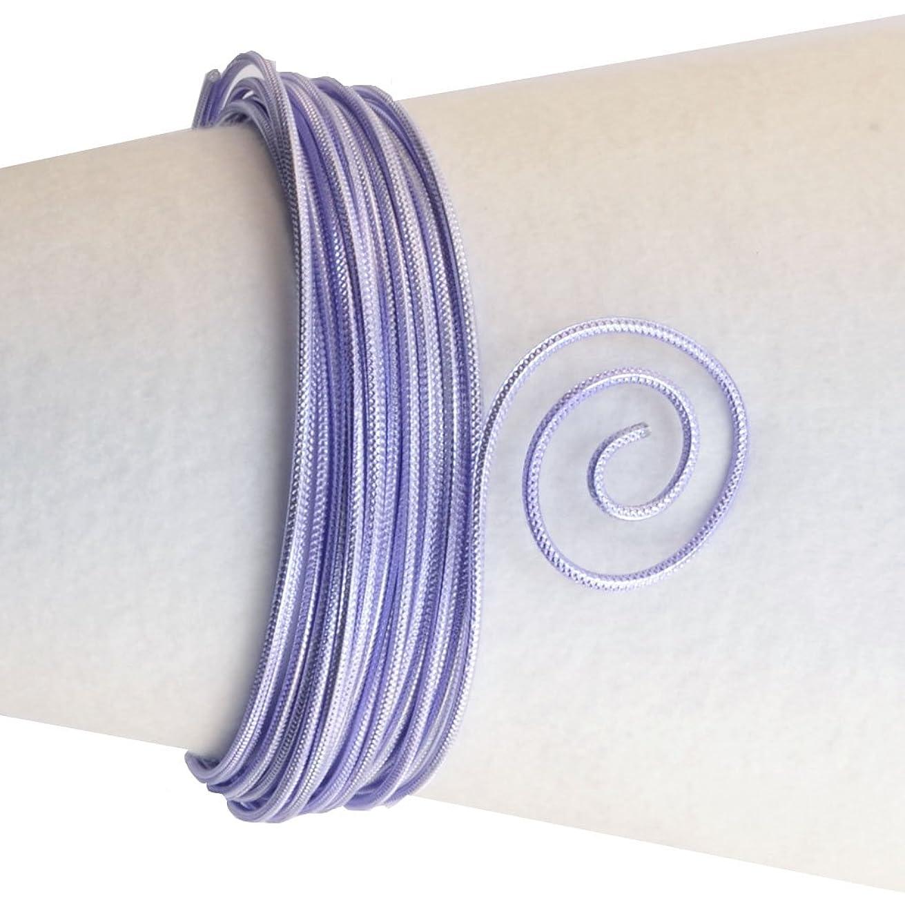 Vaessen Creative Aluminium Wire Embossed Round 2mm 5m Soft Lilac,