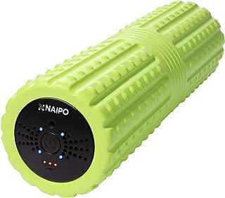 NAIPO 振動フォームローラー 筋膜リリース ストレッチフォームローラー 3D振動ヨガスティック 振動·4段階可調整