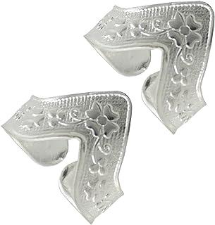 PCM Antique 925 Sterling Silver Metal Adjustable Toe Ring for Women