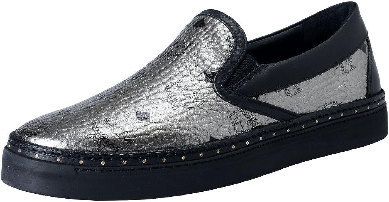 M.C.M. Visetos silver läder läder läder Mocasins Slip s on skor  ta upp till 70% rabatt