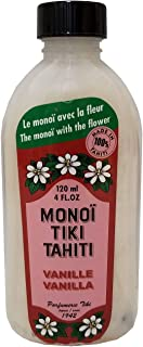 Monoi Tiare Tahiti Coconut Oil Vanilla - 4 Oz, Pack of 3