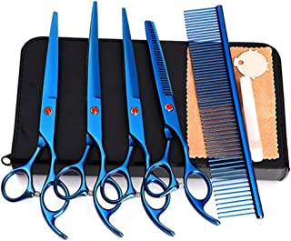 Professional Barber up and Down Curling Shears Set Hair Cutting Scissors,Shears Scissors pet 7-inch Scissors Professional-...