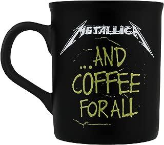 Metallica coffee for all Matt Black Mug