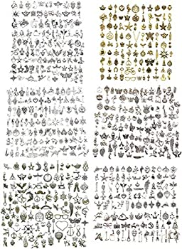 600pcs Wholesale Bulk Charms for Jewelry Making Supplies Bracelet Charms Necklace Pendant Earring Tibetan Silver Craft Supplies DIY Accessories