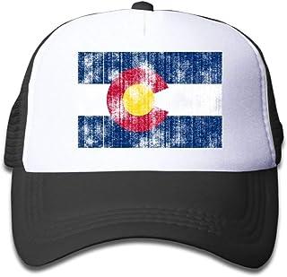 メッシュ野球帽女の子オールドコロラド州旗クールアジャスタブル