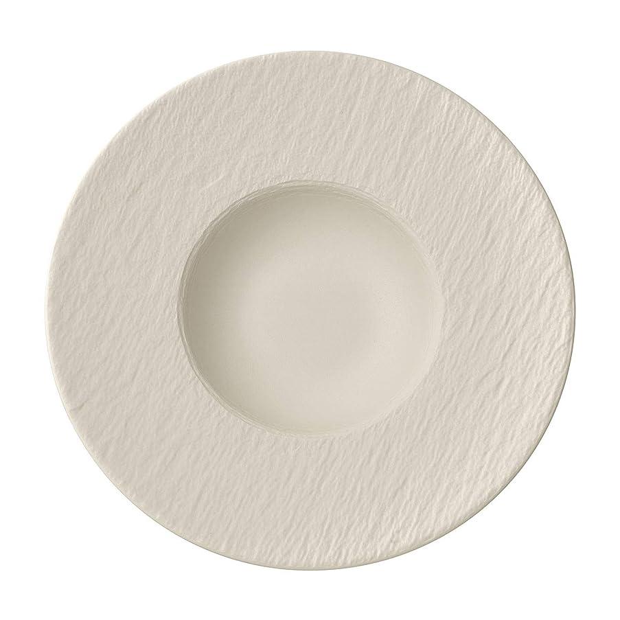 Villeroy & Boch Manufacture Rock Blanc Pasta Plate, Structured Crockery Porcelain, White, 29 cm