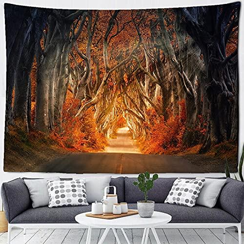 Paisaje tapiz colgante de pared hermoso bosque natural estampado de fondo manta de tela decoración del hogar tapiz manta A11 100X150CM