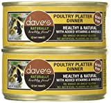 Dave'S Naturally Healthy Poultry Platter Dinner For Cats, 5.5 Oz Can (Case Of 24 )