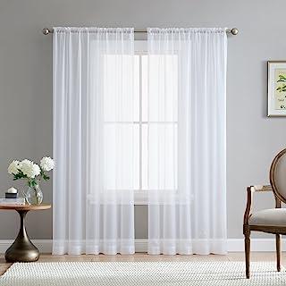 Amazon Com Sheer Panels Draperies Curtains Home Kitchen