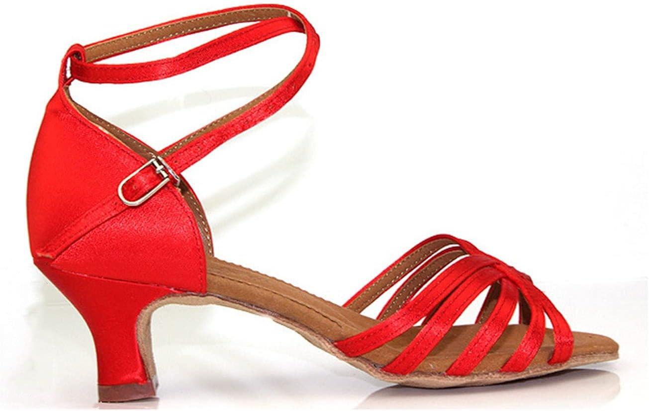 Wygwlg Women Latin Dance Ballroom Dance Shoes, Satin Tango Salsa