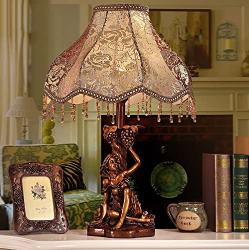 FJB HH European Style Table Warm Free shipping on Max 51% OFF posting reviews Lace Retro Lamp