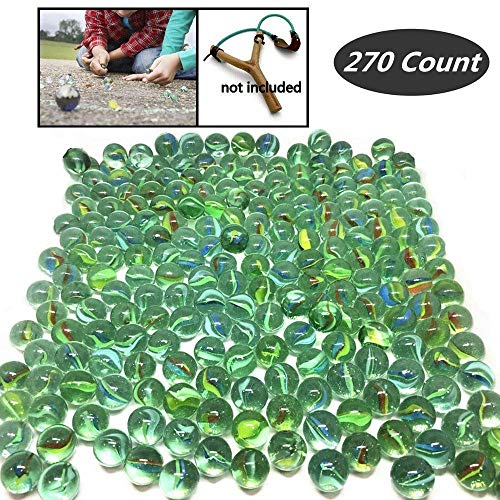 270 Count of Cats Eyes Glass Marble , Cat's Eyes Marbles 5/8' in Bulk , Shooters Sling Shot Ammo , Assorted Colors