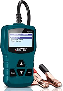 Adoter ADP400 12V Car Battery Load Tester Checker Battery Load Tester for Car, Motorcycle, Mini Vans, Light Duty Vehicle