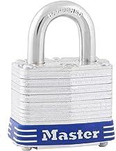 Master Lock 3EURD Gelamineerd hangslot met sleutel, grijs, 5,9 x 4 x 2,1 cm