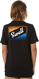 Swell Boys Boy's Express Tee Short Sleeve Cotton Black