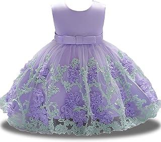 8599b64a9b4 Flower Dresses Girls Infant Baby Toddler Princess Tulle Lace 3D Sleeveless  Tea Length Tutu Formal Ball