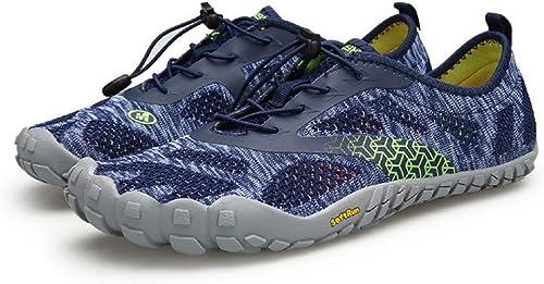Fuxitoggo Chaussures pour Hommes en Plein air Chaussures Upstream Chaussures Wading Chaussures Maille Chaussures de randonnée (Couleuré   As shown4, Taille   EU 44)