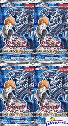 Yugioh Duelist Pack KAIBA (DPKB) Lot of FOUR(4) Unsearched Factory Sealed Booster Packs with 20 Cards!