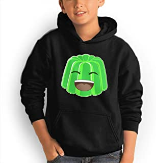 Rolvsx Youth Hoodie Fleece Jelly 100% Cotton Casual Long Sleeve Sweatshirt Pullover with Pockets for Boys and Girls