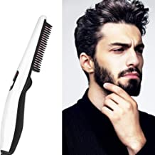 Home Multi-Function Hair Comb Hair Brush Personal Care Men Hair Dryer Brush Styler Comb Roll Straight Dual-Use Comb Travel Hair Comb Beard Trimming Guide Beard Shaping Tool