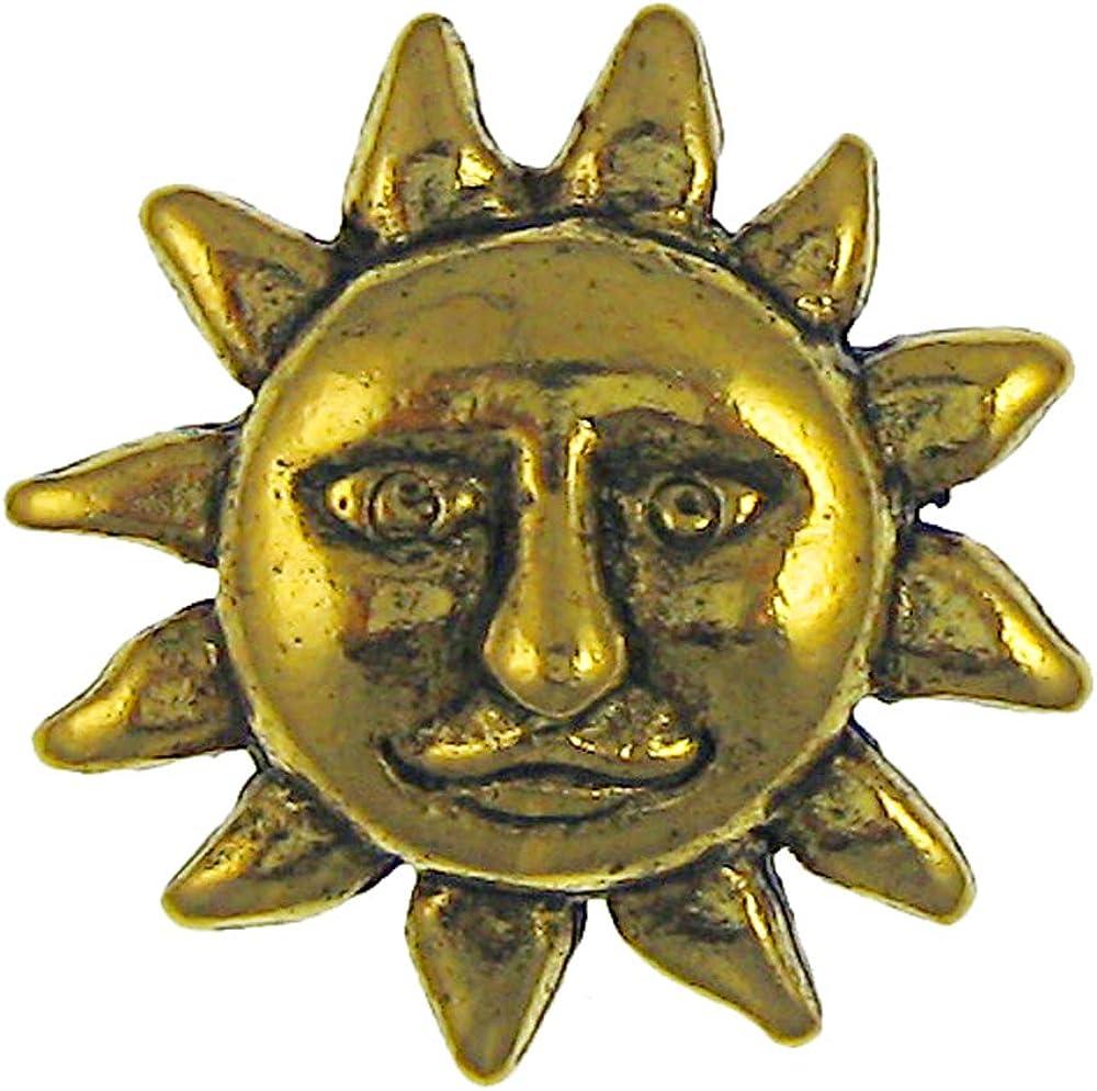 Jim Clift Design Sun Face Gold Lapel Pin