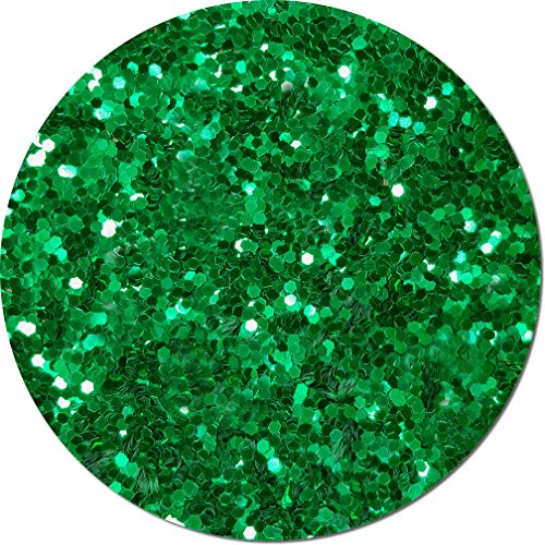 Glitter My World! Jumbo Flake Craft Glitter: 8 oz Jar Oz's Emerald City