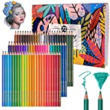 72 Professional Watercolour Pencils, Colored Art Drawing Pencils Numbered Soluble, Unique and Different